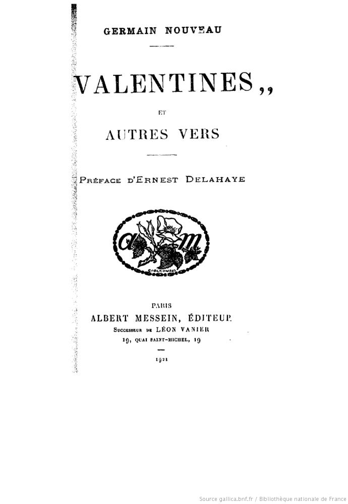 VALENTINE LIVRE