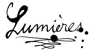 LUMIERES ECRIT