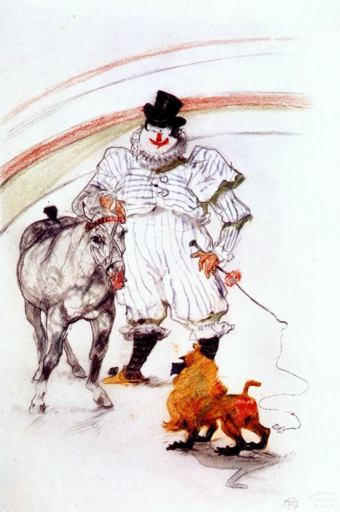 cIRQUETLLautrec_at_the_circus__horse_and_monkey_dressage_1899